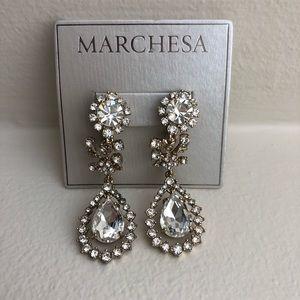 Marchesa crystal drop earring
